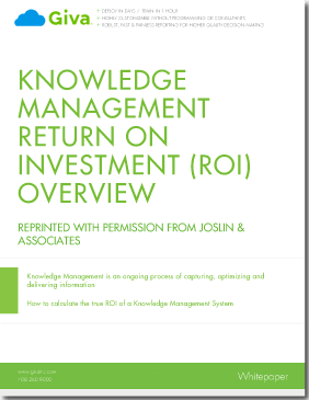 Calculating Return-on-Investment (ROI) for Knowledge Base Software & Self-help Tools