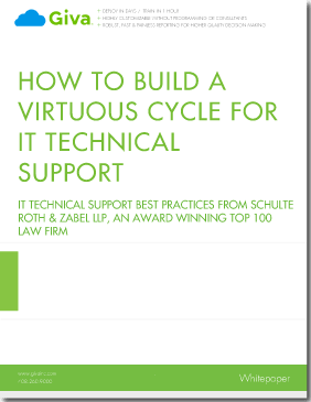 How to Build a Virtuous Cycle for IT Technical Support:  IT Help Desk Best Practices from Schulte Roth & Zabel LLP, an Award Winning Top 100 Law Firm