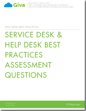 Service Desk/Help Desk Best Practices Assessment Questions